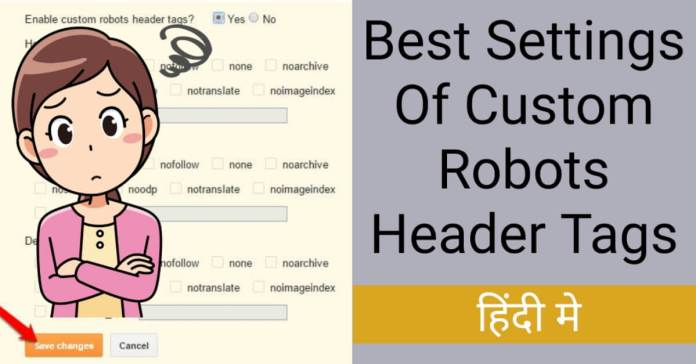 Custom robots header tag best settings