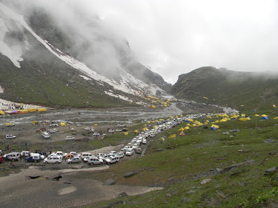 Traffic jam at Beas Nullah