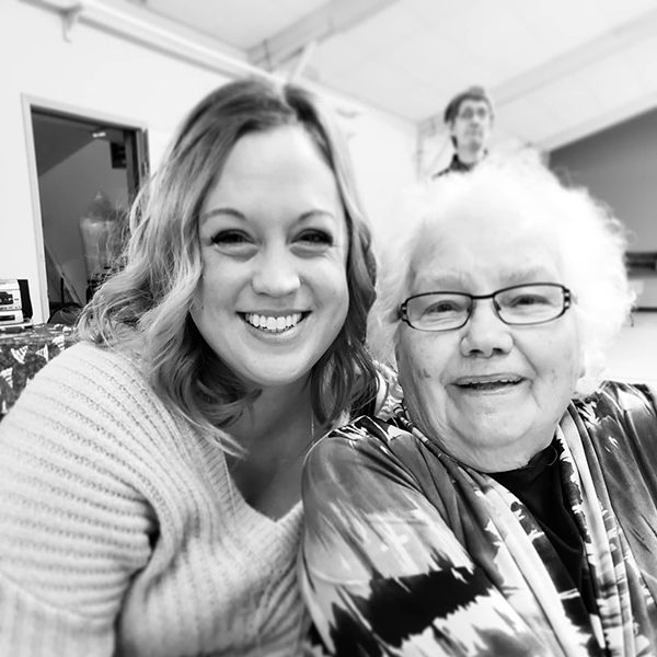 Michelle and her grandmother