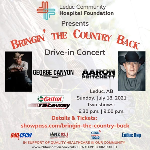 """""""Bringin' the Country Back"""" Drive-in Concert - July 18, 2021 - Castrol Raceway"""