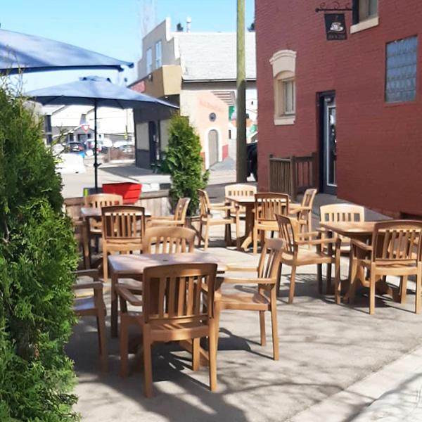 Leduc Coffee Shop's Patio