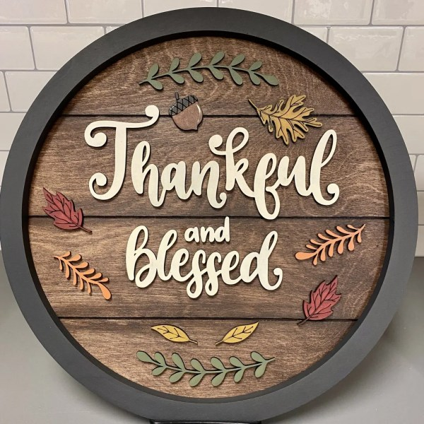 Urban Whyte Thankful & Blessed Sign Workshop