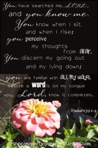Psalm 139 1-4