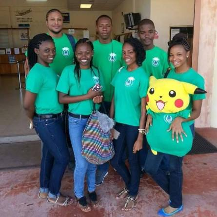 The Montserrat Debating team and their chaperone Dr. Samuel Joseph.