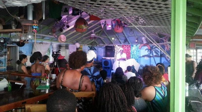 MC Rose Willock at the Soca Cabana in Little Bay for the 2015 International Women's Day celebrations.