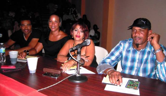 Judges at the finals of Montserrat Idol. (Pamela Holley Photo)