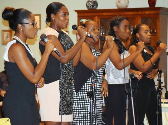 Adult section of the National Youth Choir - Montserrat Reporter Photo