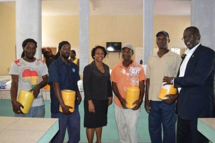 44 fishers on Monday received much-needed supplies to support their fishing business from the Ministry of Agriculture.
