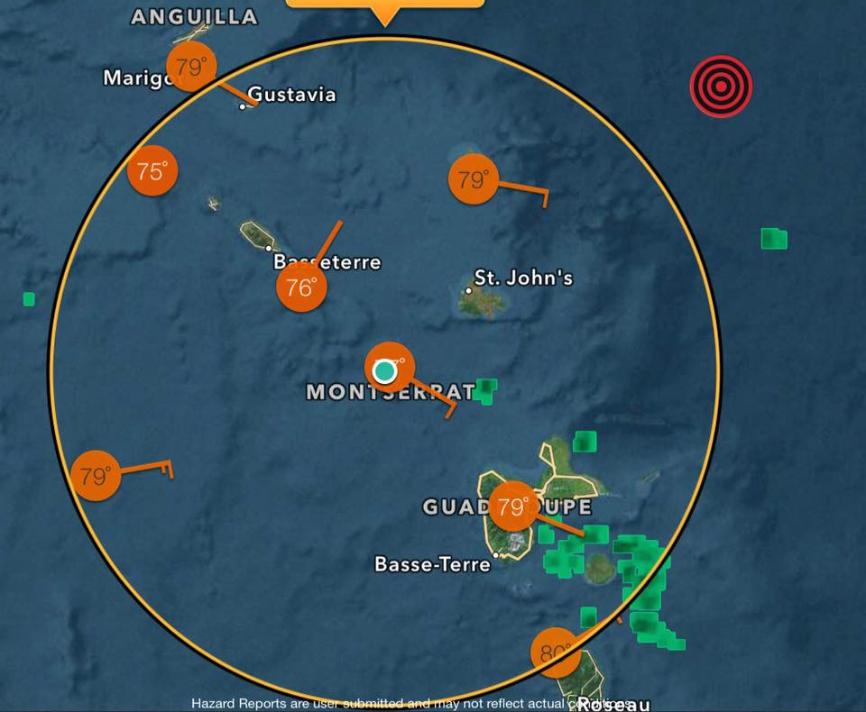 Red dot shows the epicentre of the quake.