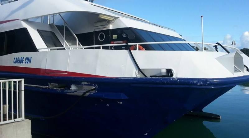 Caribe Sun docked at Heritage Quay, Antigua