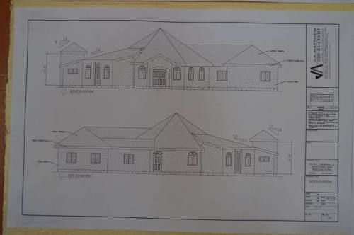 One view of the planned church expansion.