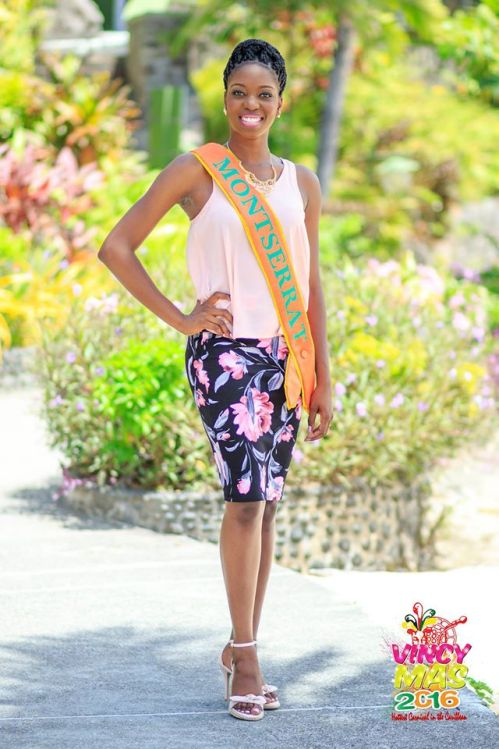 Miss Montserrat 2015/16 Tabeanna Tuitt (Vincy Mas Photo)
