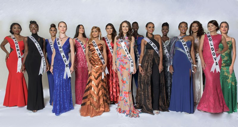 Contestants in the first Miss Regal International Pageant.