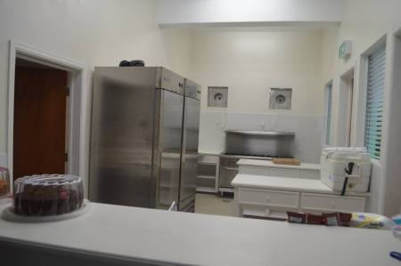 Kitchen of the community centre funded and project managed by the BNTF.