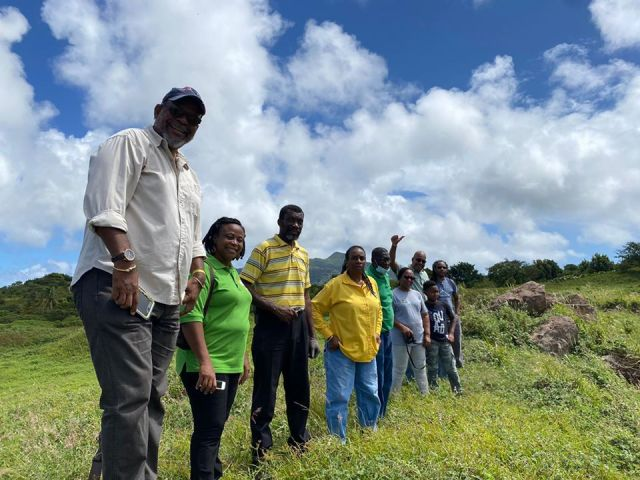 Premier Joseph Farrell Visits Potential tour sites with members of his office and other partner agencies. (Jenzil Skerritt photo)