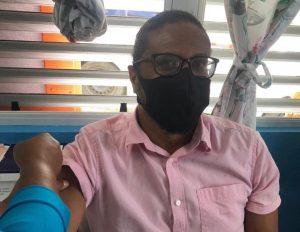 Dr Samuel Joseph gets the covid19 vaccine