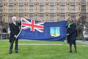 Speaker Raises Montserrat Flag at House of Commons