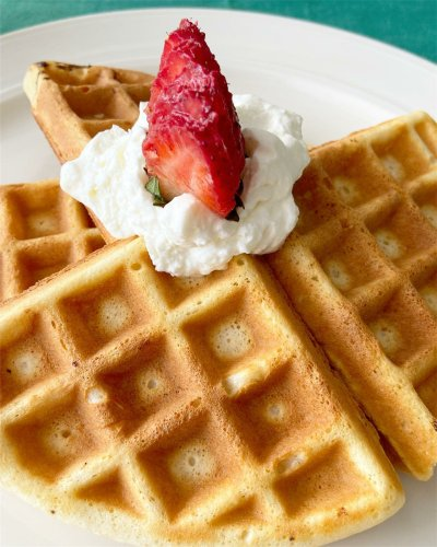 Waffles by Chef Toni James of The Weekend Takeout at Vue Pointe Hotel.