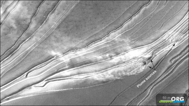 Narrow gullies formed on frost-affected sand dunes on Mars