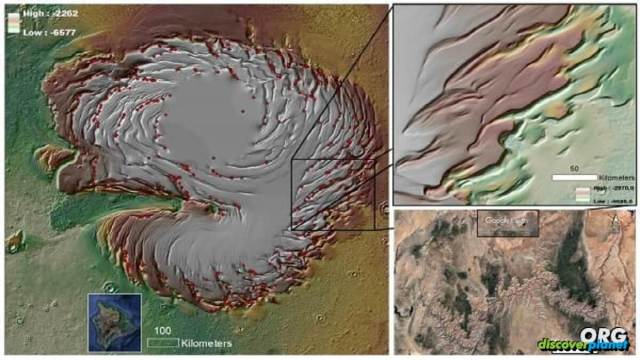 Recently, a team led scientists found evidence of erosion on Mars polar ice cap