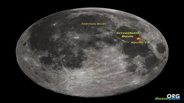 Apollo 17 astronauts took regolith samples near Serenitatis Basin