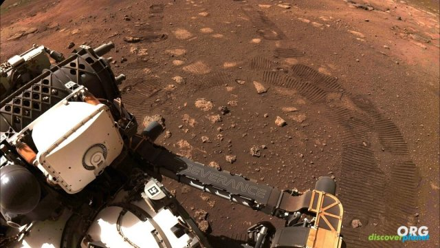 Perseverance rover conducted its first drive on Martian landscape
