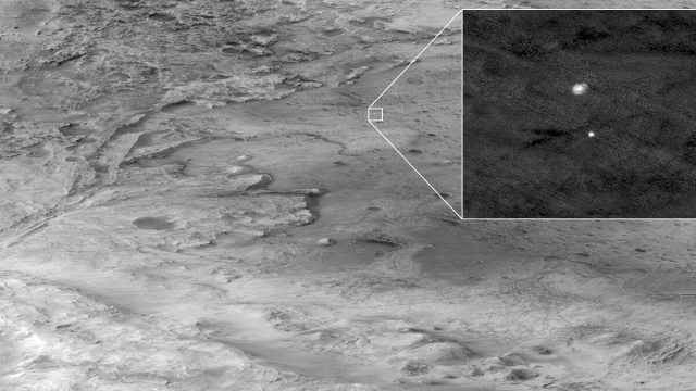 Perseverance's Landing captured by HiRISE camera from orbit