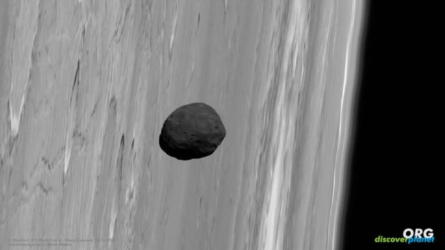 Phobos and Deimos captured together by ESA's Mars Express Orbiter