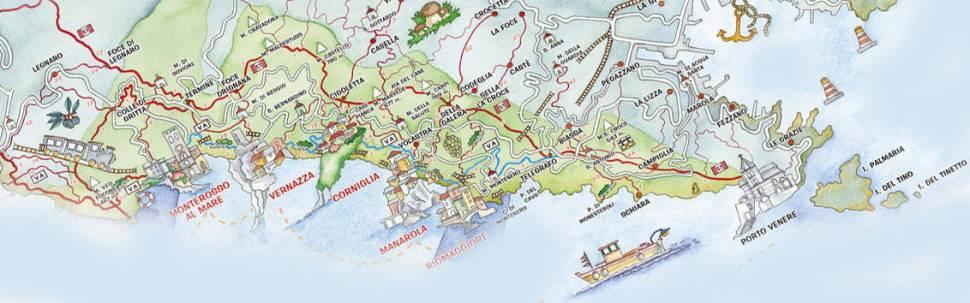 Portovenere Cinque Terre Map Bay of Spezia