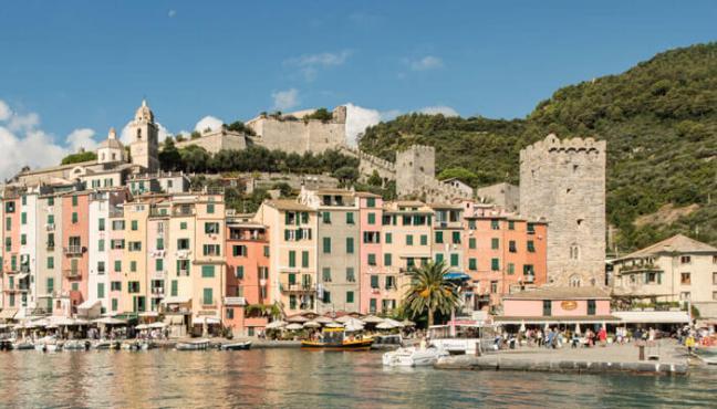 The Doria Castle dominates Porto Venere, Liguria