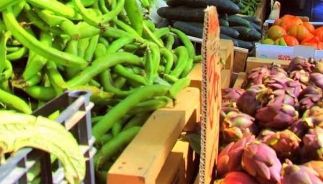 Farmer's market in Levanto, Liguria