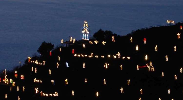 Manarola's Luminous Nativity Scene - by Diego Ravera