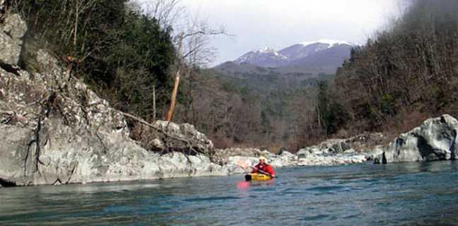 Canoeing in the Montemarcello Magra Park, Liguria