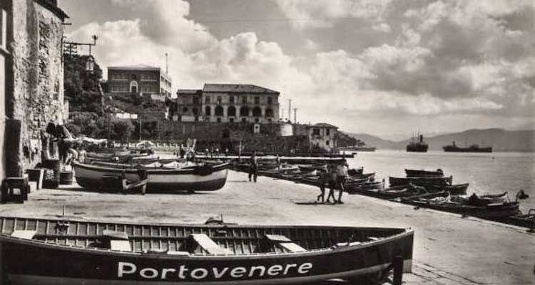 History of Portovenere: postcard from the early 1900s