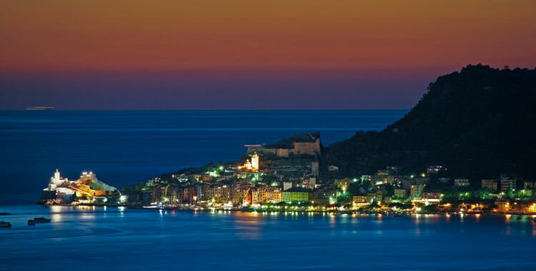 Portovenere by night, Liguria