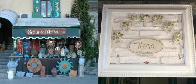 Artisan shops in Portovenere