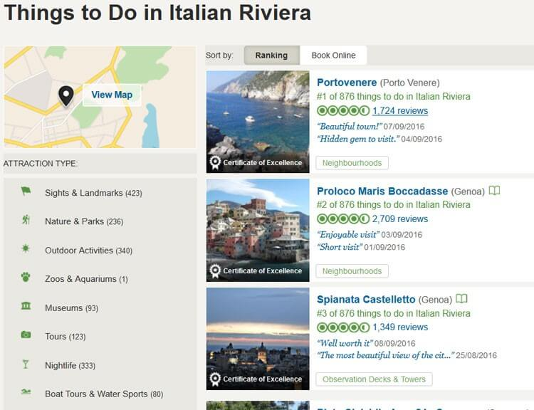 Top Thing to Do in the Italian Riviera by Tripadvisor