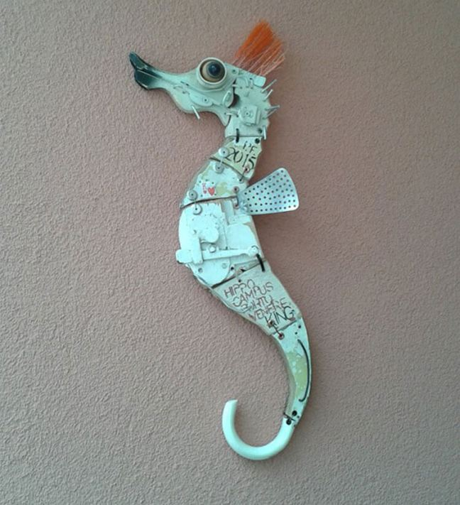 Recycled Art Installation in Portovenere: Interview with Stefano Pilato