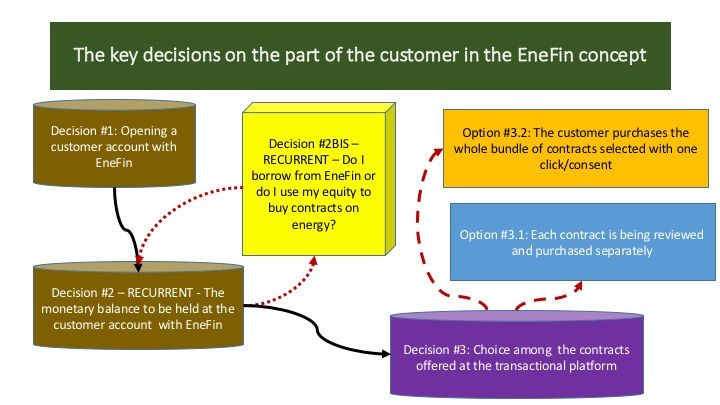 The key decisions on the part of the customer in the EneFin concept