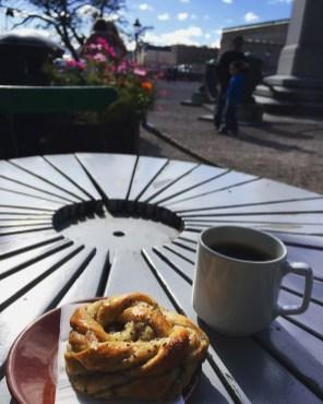 Morning Fika in Kungsträgården