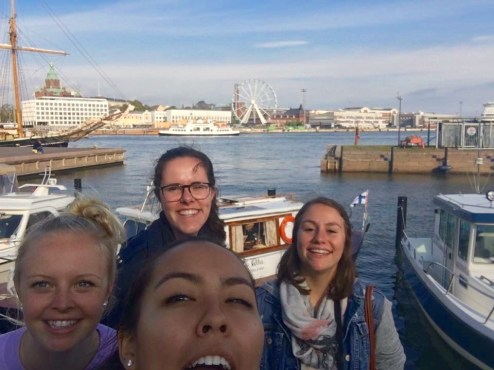 Me and 3 friends where our ship dropped us off in Helsinki