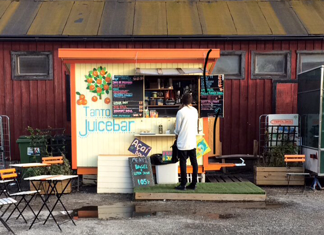 Juicebar pop-up in Sodermalm