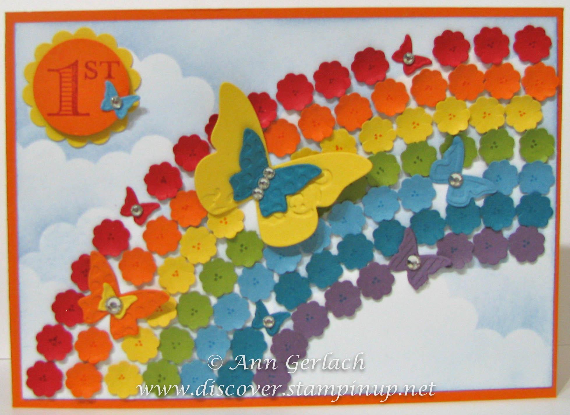 Rainbow Flower Punch Art Discover Ink Ann Gerlach