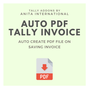 Auto PDF in Tally - Tally AddOn