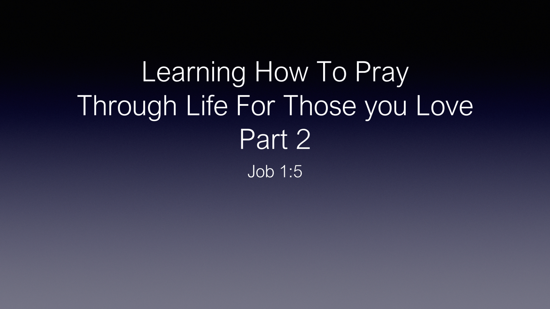 COP-09 - How to Pray for Those We Love Part 2 - Praying for Integrity in Their Personal Lives (1)