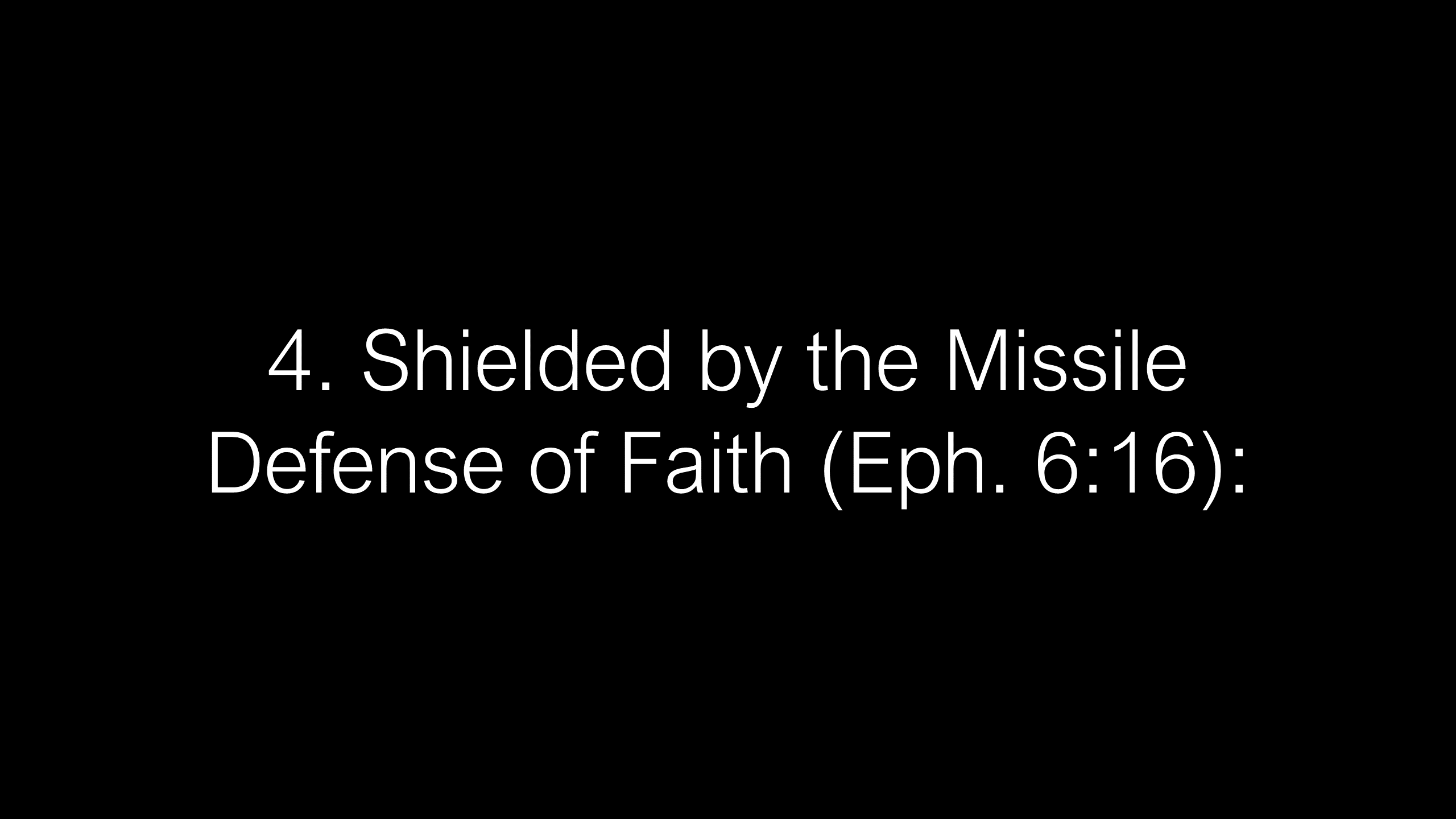 SWS-16 - How God Uses the Full Armor of God to Deliver Us from the Evil One (14)