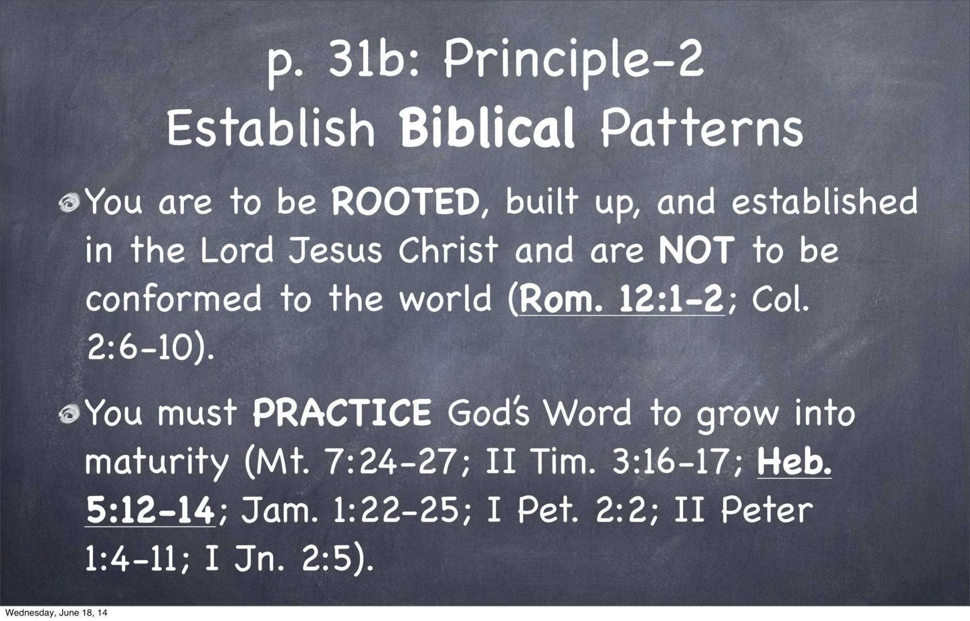BC&D-05 - Foundations For Santification - Part 1-30