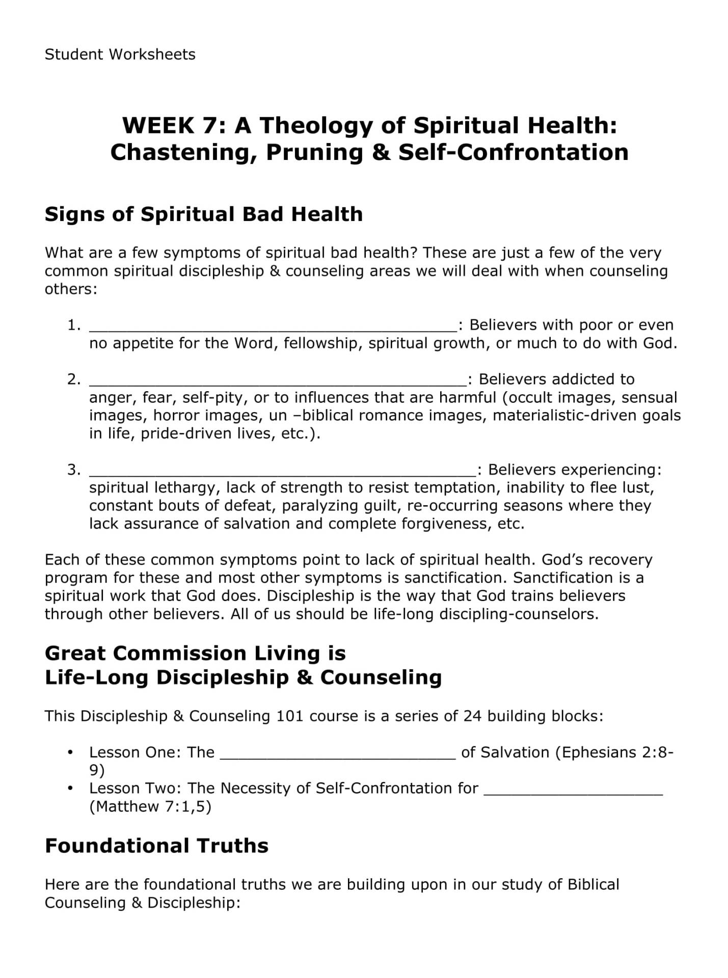 BC&D-07 - A Theology Of Spiritual Health - Chastening, Pruning, And Self-Confrontation-08