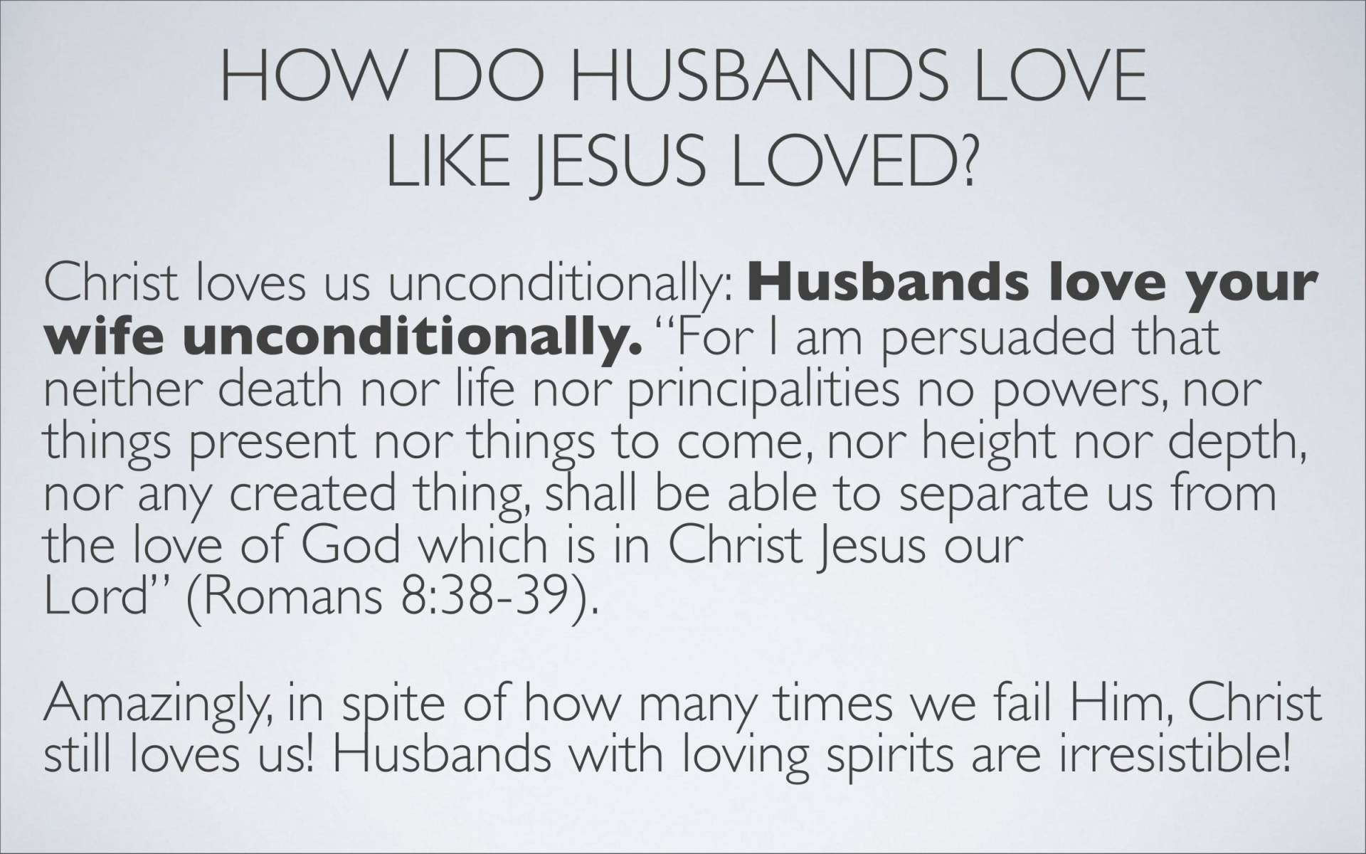 BC&D-37 - Lesson 15-1 - The Marriage Relationship - Husbands-28