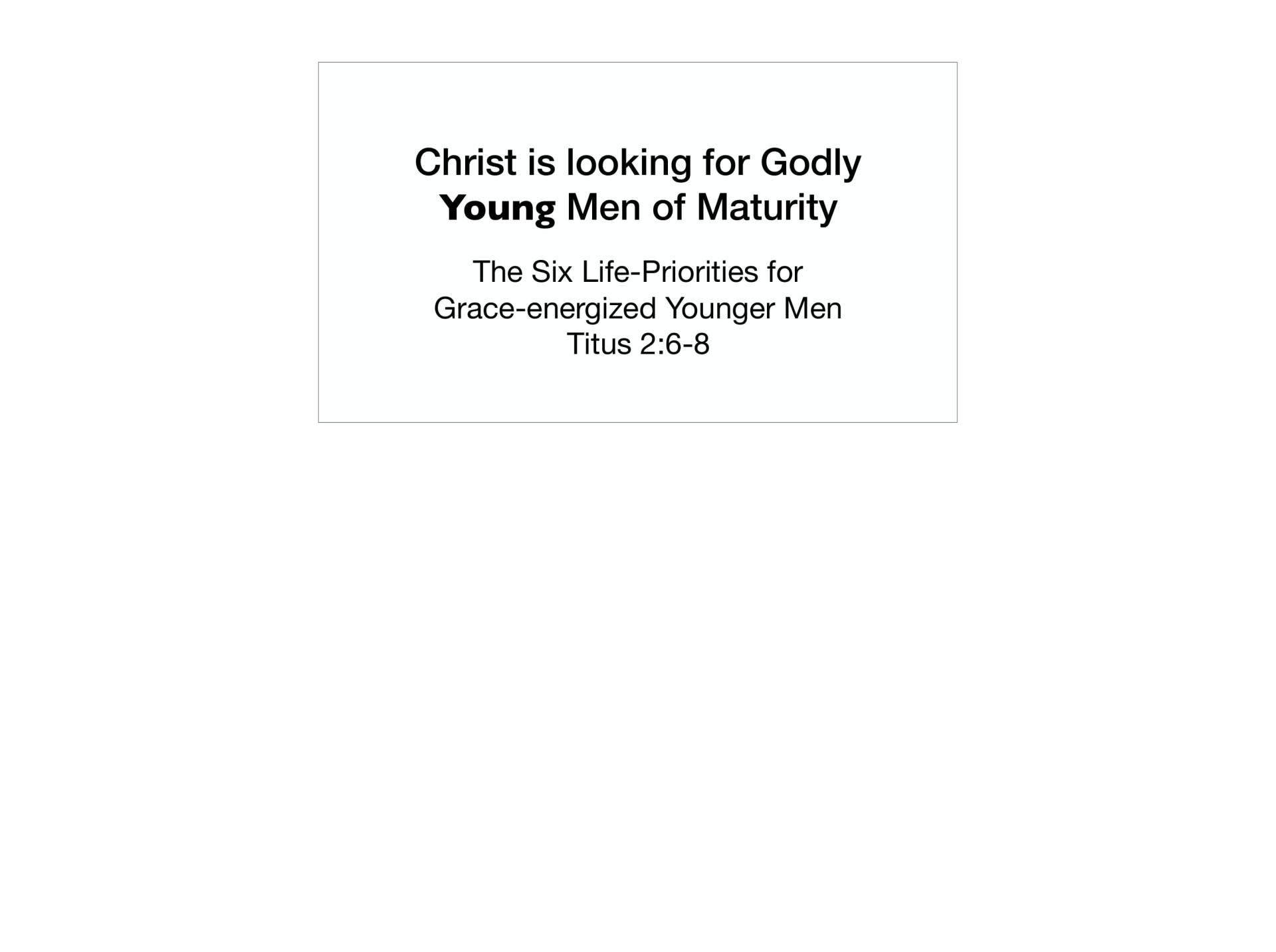 LGI-01 - God's Recovery Program Is Sanctification-21